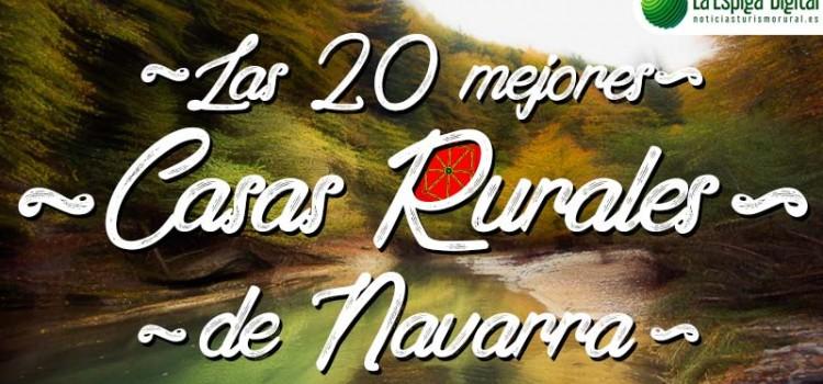¡Nuestras casas rurales Navarlaz Toki Ona seleccionadas entre los 20 mejores alojamientos de Turismo Rural de Navarra!